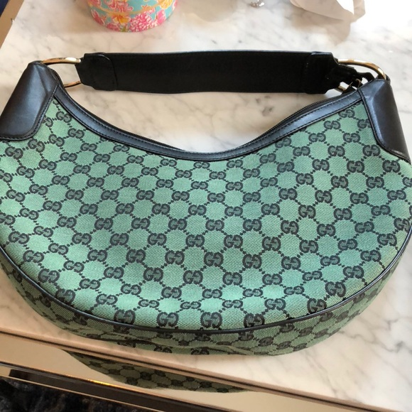7fb8ea2d28ac8f Gucci Bags | Green Half Moon Hobo Bag Used 23 Times | Poshmark